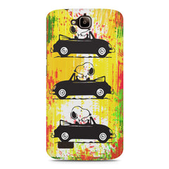 Snoopy the Dog Driving Car  Huwaei Honor Holly printed back cover