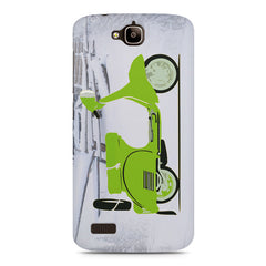 Green Scooter Cool Minimalist Art Huwaei Honor Holly printed back cover