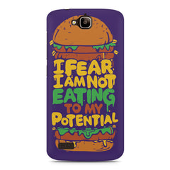 Foodie Quotes Colorful Burger  Huwaei Honor Holly printed back cover