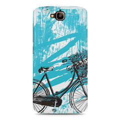 Retro and Funky Bicycle Design Huwaei Honor Holly printed back cover