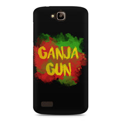 Ganja Gun Abstract Art Text Quote Huwaei Honor Holly printed back cover