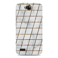 Lined Marble Geometric Pattern Huwaei Honor Holly printed back cover