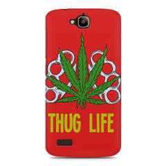 Thug Life Cool Ganja Art Huwaei Honor Holly printed back cover