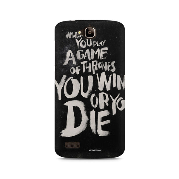 Win or Die Huwaei Honor Holly printed back cover