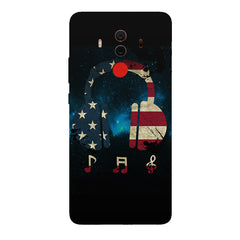 America tunes Blue sprayed   Huawei Honor Matte 10 Pro hard plastic printed back cover.