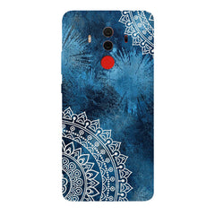 A Vivid Blue ethnic yet cool pattern Huawei Honor Matte 10 Pro hard plastic printed back cover.