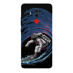 Astronaut space surfing design Huawei Honor Matte 10 Pro all side printed hard back cover by Motivate box Huawei Honor Matte 10 Pro hard plastic printed back cover.
