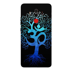 A beautiful blue tree with Om inscribed Huawei Honor Matte 10 Pro hard plastic printed back cover.