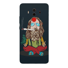 Baba Smoking Cigar design Huawei Honor Matte 10 Pro hard plastic printed back cover.