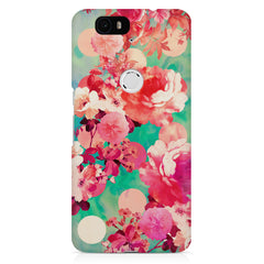 Floral  design,  Huawei Nexus 6p printed back cover