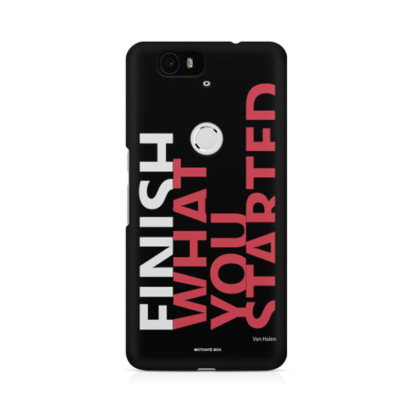 Finish What you started - Quotes with Determination Huwaei Honor 4C printed back cover