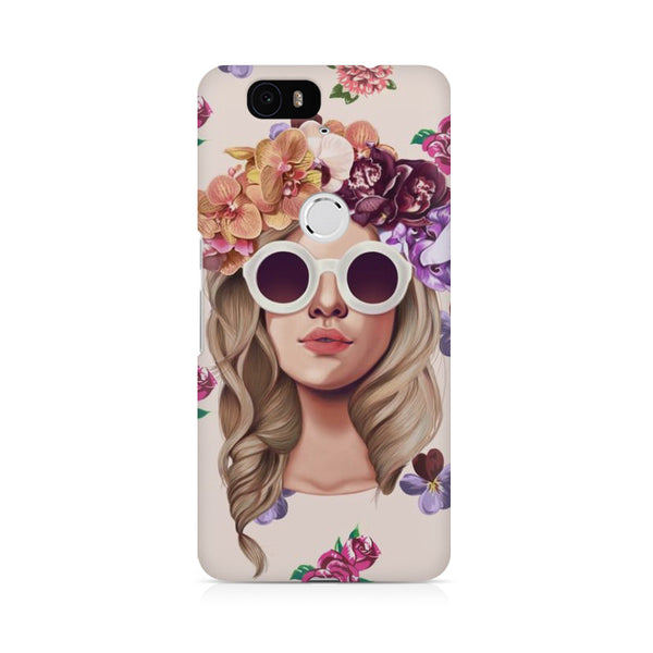 Floral Girl Huwaei Honor 4C printed back cover