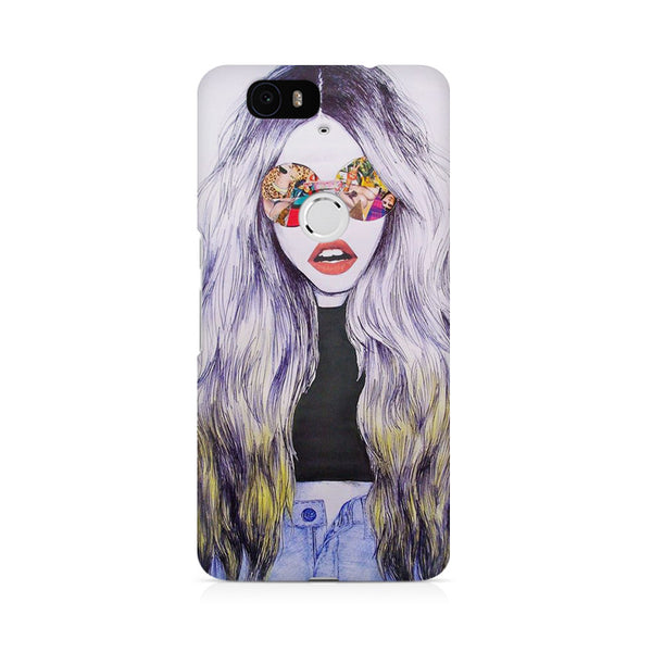 Classy girl with shades Huwaei Honor 4C printed back cover