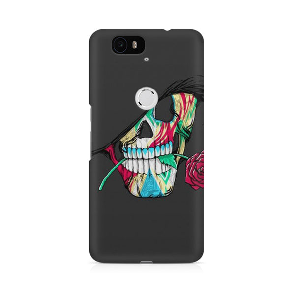 skull with rose Huwaei Honor 4C printed back cover