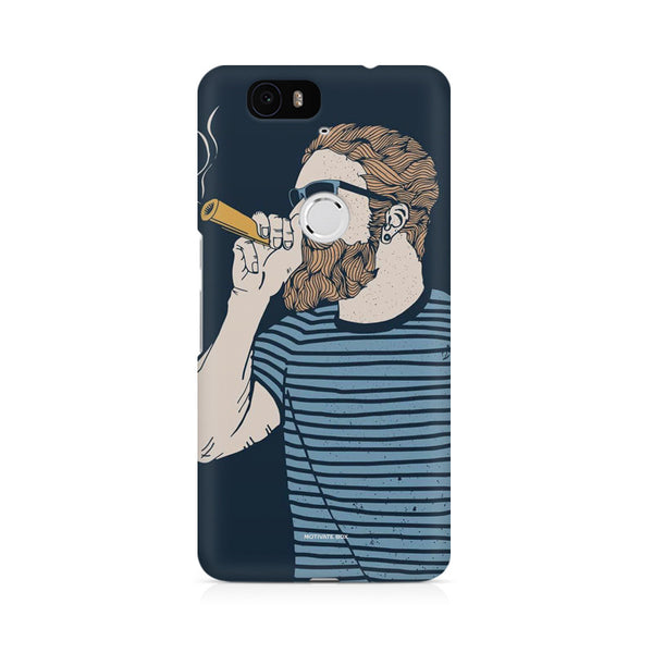Smoking beard man Huwaei Honor 4C printed back cover