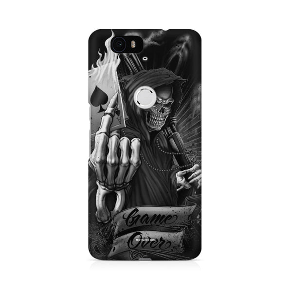 game over skull Huwaei Honor 4C printed back cover