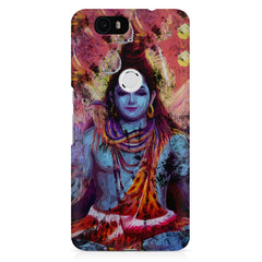 Shiva painted design Huawei Nexus 6p printed back cover