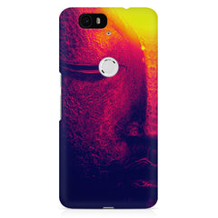 Half red face sculpture  Huawei Nexus 6p printed back cover