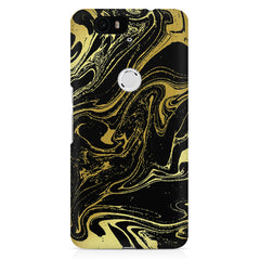 Golden black marble design Huawei Nexus 6p printed back cover