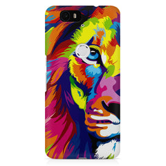 Colourfully Painted Lion design,  Huawei Nexus 6p printed back cover