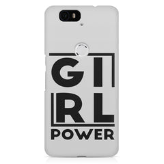 Girl power deisgn Huawei Nexus 6p printed back cover