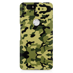 Camoflauge army color design Huawei Nexus 6p printed back cover