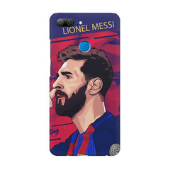 Colorful side face Portrait look, Lionel Messi Design Huawei P10 Lite hard plastic printed back cover.
