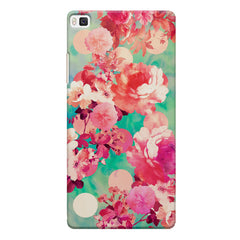 Floral  design,  Huwaei Honor 8 printed back cover