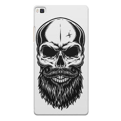 Skull with the beard  design,  Huwaei Honor 8 printed back cover