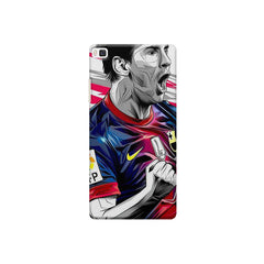 Messi illustration design,  Huwaei Honor 8 printed back cover