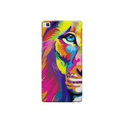 Colourfully Painted Lion design,  Huwaei Honor 8 printed back cover