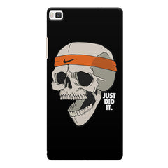 Skull Funny Just Did It !  design,  Huwaei Honor 8 printed back cover