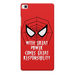 Spider man design Huwaei Honor 8 printed back cover