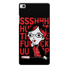 Shut the F*** up design Huwaei Honor 8 printed back cover