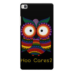 Owl funny illustration Hoo Cares Huwaei Honor 8 printed back cover
