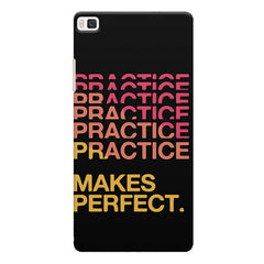 Practise makes perfect design Huwaei Honor 8 printed back cover