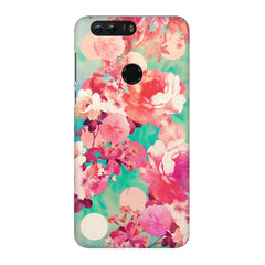 Floral  design,  Huawei Honor 7C hard plastic printed back cover