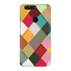 Graphic Design diamonds   Huawei Honor 7C hard plastic printed back cover