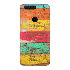 Strips of old painted woods  Huawei Honor 7C hard plastic printed back cover