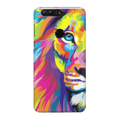 Colourfully Painted Lion design,  Huawei Honor 7C hard plastic printed back cover
