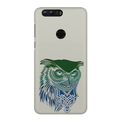 Owl Sketch design,  Huawei Honor 7C hard plastic printed back cover