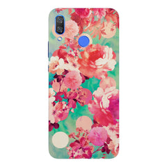 Floral  design,  Huawei Nova 3 hard plastic printed back cover