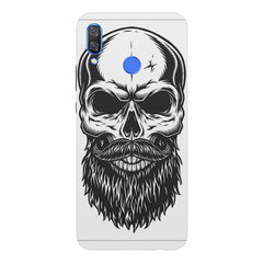 Skull with the beard  design,  Huawei Nova 3 hard plastic printed back cover