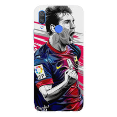 Messi illustration design,  Huawei Nova 3 hard plastic printed back cover