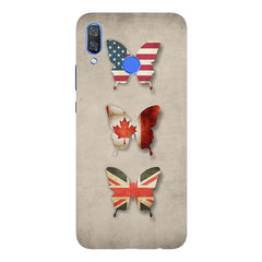 Butterfly in country flag colors Huawei Nova 3 hard plastic printed back cover
