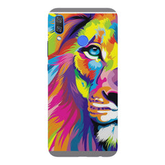 Colourfully Painted Lion design,  Huawei Nova 3 hard plastic printed back cover