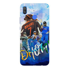 M.S Dhoni batting looks collage design Huawei Nova 3 hard plastic printed back cover