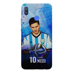 No.10 Lionel Messi Argentina with a football in hand design Huawei Nova 3 hard plastic printed back cover