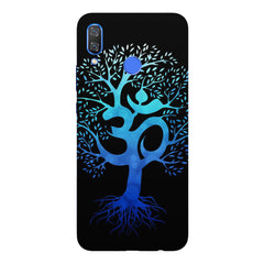 A beautiful blue tree with Om inscribedHuawei Nova 3 hard plastic printed back cover