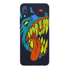Scary yet funny dog cartoon design Huawei Nova 3 hard plastic printed back cover
